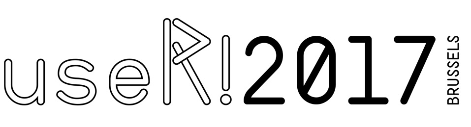 useR!2017 conference logo